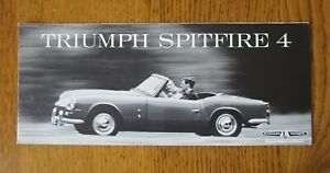 Original Motoring sales brochure, Triumph Spitfire 4,  1960's
