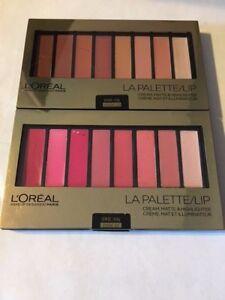 Loreal Makeup Designer LA Palette Lip Cream,Matte&Highlighter, 03Nude & 01 Pink
