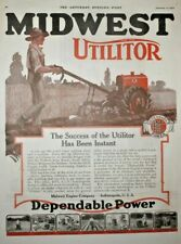 1920 Original Advertising, Sat. Evn. Post Mag. Utilitor Garden Tractor, Goulds,