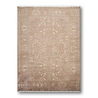 6' x 9' Hand knotted 100% Wool Traditional Oriental Area rug 6x9 Taupe