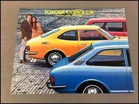 1972 Toyota Corolla 12-page Original Vintage Sales Brochure Catalog