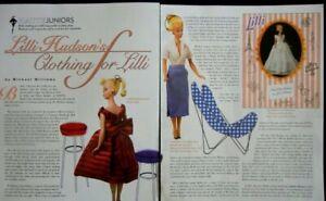 6p History Article + Pics - VTG Bild Lilli Barbie Doll Prototype Clothing