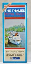 VTG 1970's ROYAL RIVER THAMES Travel Map & Guide Brochure London UK England