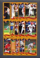 2002 Topps St. Louis Cardinals Baseball TEAM SET