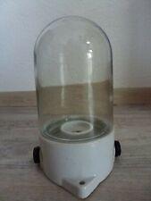 DDR Kolbenlampe Keramik mit Glaszylinder P33 250V 100W * 21cm hoch
