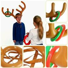 PVC Inflatable Antler Headband Toys Animal Head Ring Circle Tools Xmas Decor Toy