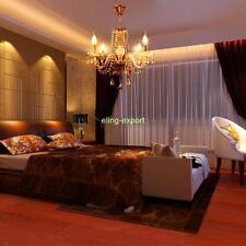 Glass Crystal Chandelier Pendant 4 Light Ceiling Lamp Modern Living Room Decor
