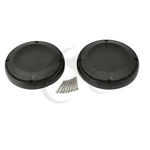 """6.5"""" Lower Fairing Speaker Covers Grills Saddlebag Lid For Harley Street Glide"""
