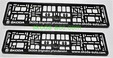 GENUINE Skoda Number plate holder 2 pcs set