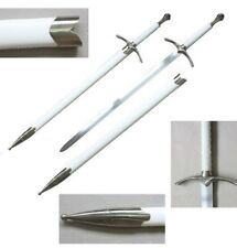 """42"""" Medieval Chivalry Crusader Knight Sword With White Scabbard Brand New"""