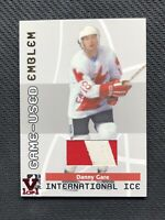 2006-07 IN THE GAME ITG USED DANNY GARE INTERNATIONAL ICE JERSEY VAULT #ed 1/1