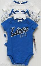 NFL NWT INFANT ONESIE-SET OF 3- DETROIT LIONS 18 MONTHS