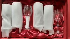Bohemia Crystal glass etched Wine Glasses Set of 6 16cm In Box - never used