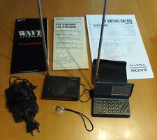Sony ICF SW-100 Weltempfänger, Aktivantenne AN-100A, Netzteil und Schaltpläne