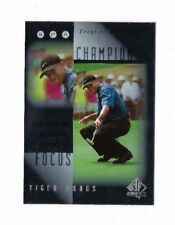 2001 UD SP AUTHENTIC TIGER WOODS FOCUS ON A CHAMPION INSERT GOLF UPPER DECK #FC5