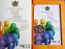 "Folder  2 euro commemorativo San Marino 2008 - ""Dialogo  Interculturale"""