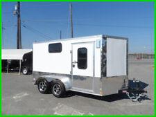 7x12 2' v 14' 3 windows Motorcycle pkg cargo enclosed cargo toy hauler trailer