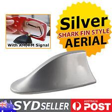 Universal Car Exterior Roof AM/FM Radio Shark Fin Antenna Signal Aerial Silver