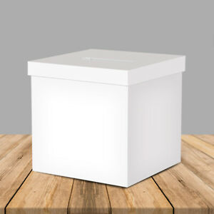 """OnDisplay 10"""" Luxe Acrylic Clear Wedding Card Box w/Lid - Lucite Gift/Money Box"""