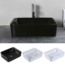 Rectangular Ceramic Above Counter Art Basin Vessel Bathroom 
