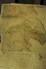 CARTINA GEOGRAFICA A COLORI - ALBANIA - DELVINE