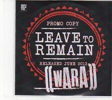 (DW913) Leave To Remain, Wara - 2013 DJ CD