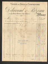 """NIORT (79) TISSUS en gros & CONFECTIONS / MODE """"DELAVAUD & REZEAU"""" en 1922"""