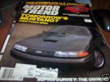 Motor Trend August 1984 Mustang 4WS Turbo Ghia