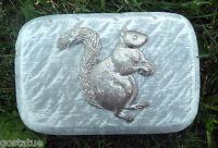 """Gostatue squirrel 1/8th"""" plastic mold rain brick concrete plaster mould"""