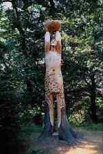 640056 Wood Sculpture Wepre Park Ewloe Deeside Flintshire A4 Photo Print