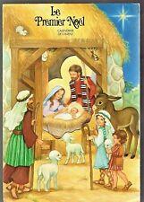 carte postale a système relief calendrier de l'avent PREMIER NOEL jésus crèche