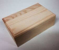 5 rectangulaire bois de pin bijou boîte de stockage WC300 bijoux boucle d'oreille dinky