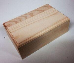 5 Rectangular pine wood trinket box WC300 storage jewellery earring dinky