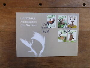 SWEDEN 2016 DEER SET 5 STAMPS FDC FIRST DAY COVER