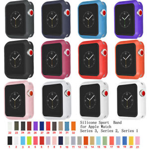 iWatch Case Cover Sports Silicone Bumper Straps For Apple Watch 38/42mm 40/44mm