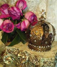 Vintage Style INFANT OF PRAGUE Santos Crown Patina Bronze w/ Rhinestones Replica