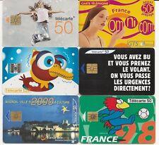 LOT DE 12TELECARTES DE FRANCE
