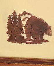 Metal Die Cut Bear Silhouette Wall Art Wildlife Cabin Lodge Rustic Home Decor