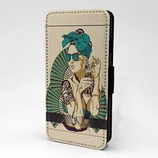 For Apple iPod Touch Flip Case Cover Vintage Retro Art - T2494