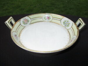 OLD NIPPON HAND PAINTED CREAM CHEESE BUTTER TUB DISH