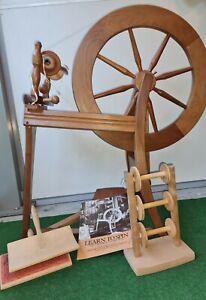 Spinnrad Ashford Traditional, unlackiert Original, 2-fädig spinnen Spinnwolle