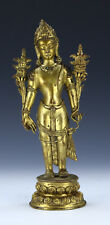 A CHINESE ANTIQUE GILT BRONZE FIGURE GROUP