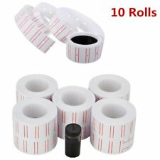 10 Rolls White Red Line Paper Tag Sticker Price sticker Labels for Mx 5500 + Ink