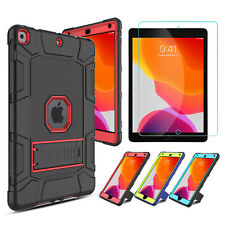 For Apple iPad 7th Gen 10.2 inch Shockproof Stand Case Cover HD Screen Protector