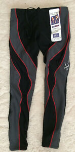 CW-X Insulator PerformX Tights Men's Small Black/Grey/Red Compression Running
