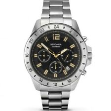 Sekonda 1134 Mens Watch Stainless Steel Chronograph Grey Dial RRP £99.99