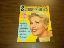 SCREEN STORIES 1957 May MOVIE MAGAZINE - KIM NOVAK JIMMY STEWART VAN DOREN