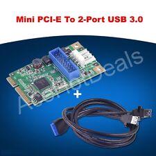 Mini PCI-Express vers USB 3.0 20 broches ENTÊTE CARTE W/USB Dual femelle à 20