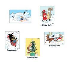 Set of 5 Christmas and Year TINTIN Postcards 31308 (10x15cm)