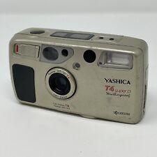 Yashica T4 Super D 35mm film camera w/ new lithium battery (read description)